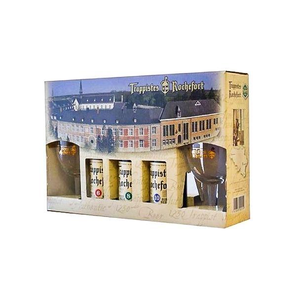 Box Trappistes Rochefort 3 Bottles + 2 Glasses