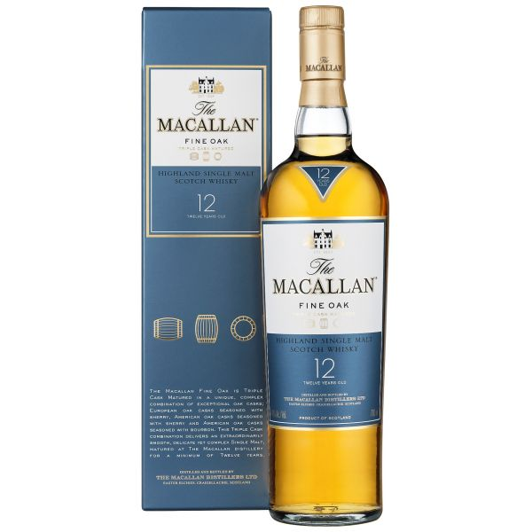 Macallan Fine Oak 12 Years Boxed Bottle