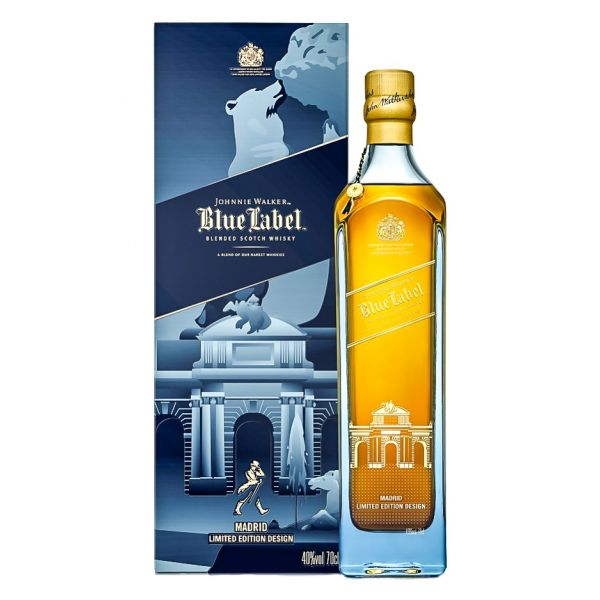 It is a picture of Influential Johnnie Walker Blue Label Madrid Edition