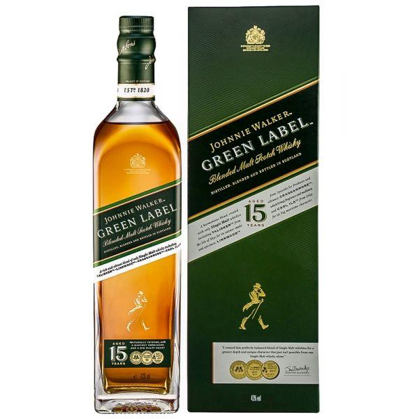 Johnnie Walker Green Label 15 Years Boxed Bottle