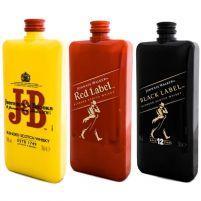 Pack Petacas J&B, Red Label y Black Label