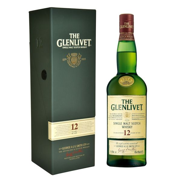 Glenlivet 12 Years Boxed Bottle