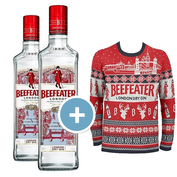 Beefeater 2 Bottles + Christmas Ugly Sweater