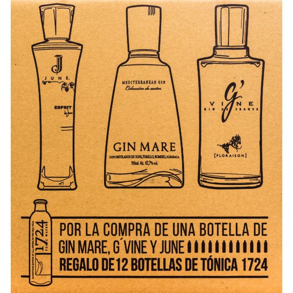 Promocaja G'vine, Gin Mare and June