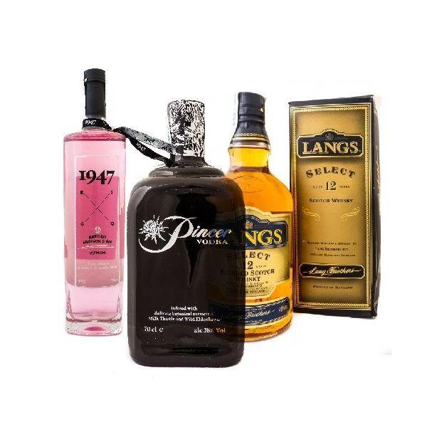 Superpack Whisky-Vodka-Gin