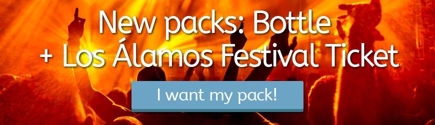Nuevos packs botella + entrada Festival Los Alamos