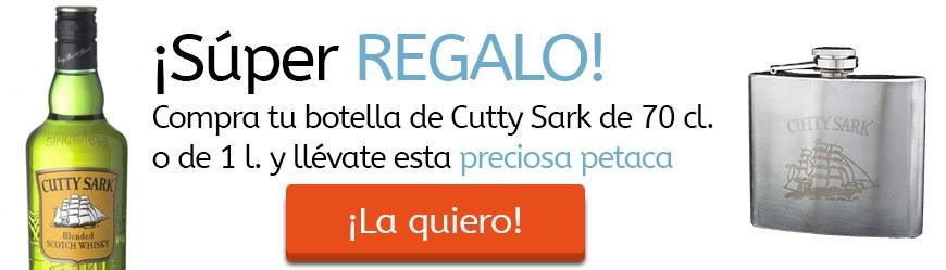 Compra un Cutty Sark de 70cl y consigue esta fantástica petaca