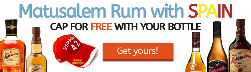 Matusalem Rum with SPAIN. Cap for FREE with your bottle