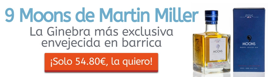 9 Moons de Martin Miller: La ginebra más exclusiva enriquecida en barrica